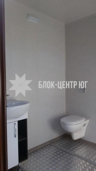 Стационарный туалетный модуль павильон МК-2