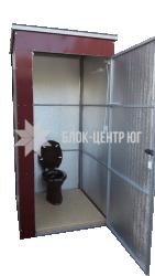 Биотуалет кабина разборная утепленная  на выгребную яму зима-лето Идеал ТК-3